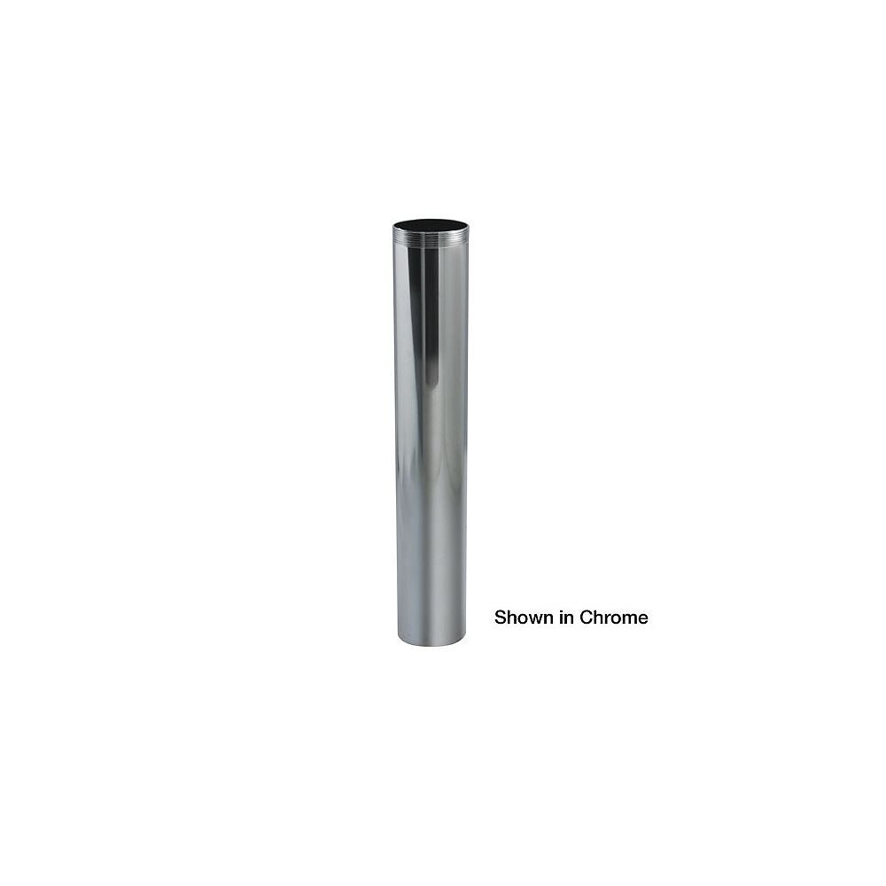 OS&B Brass 1-1/4 Inches  x 6 Inches  Chrome Threaded Extension  T.O.E.Tube