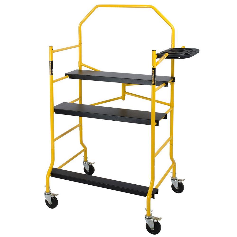 Metaltech Job Site Series 5 ft. x 4 ft. x 2-1/2 ft. Scaffold 900 lbs. Load Capacity