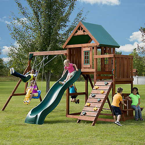 Knightsbridge Wood Complete Playground Set