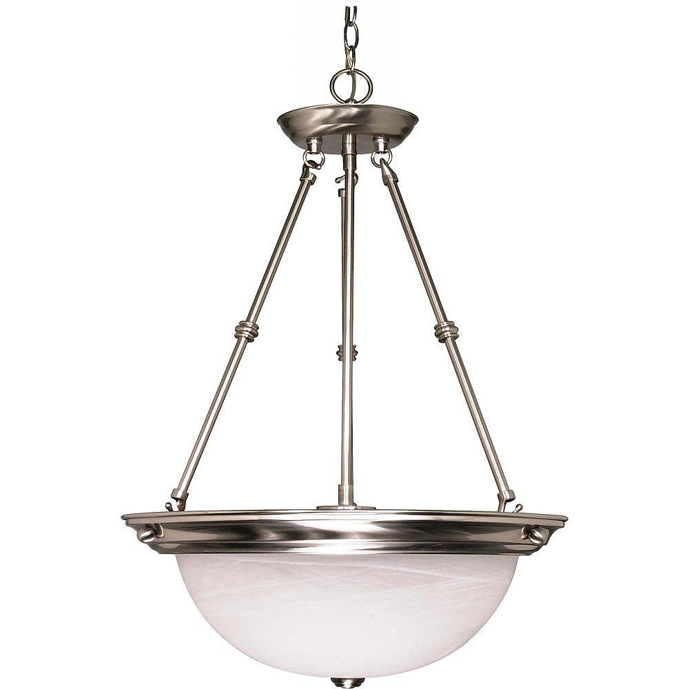 Glomar Lustre Glomar à trois ampoules avec abat-jour de spécialité, finition de spécialité