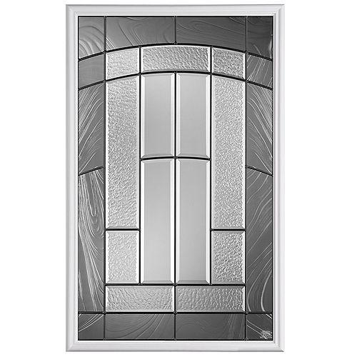 Masonite 22-inch x 36-inch Croxley 1/2-Lite Glass Insert