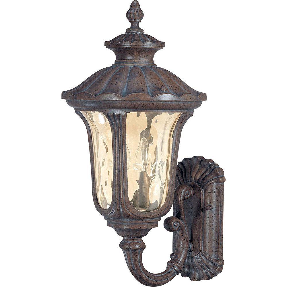 Glomar Lumière fixée au mur à deux ampoules avec abat-jour de spécialité, finition de spécialité