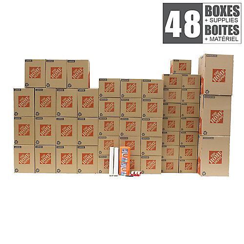 48 Box Medium/Large Apartment Moving Bundle
