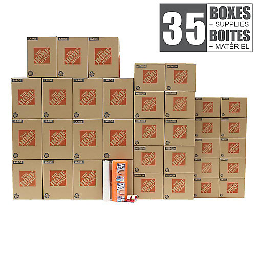 35 Box Small/ Medium Apartment Moving Bundle