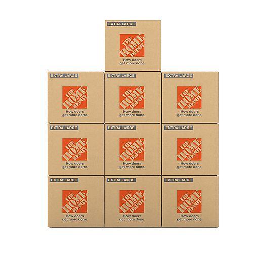 Ensemble de boîtes extra-grandes, 10 boîtes