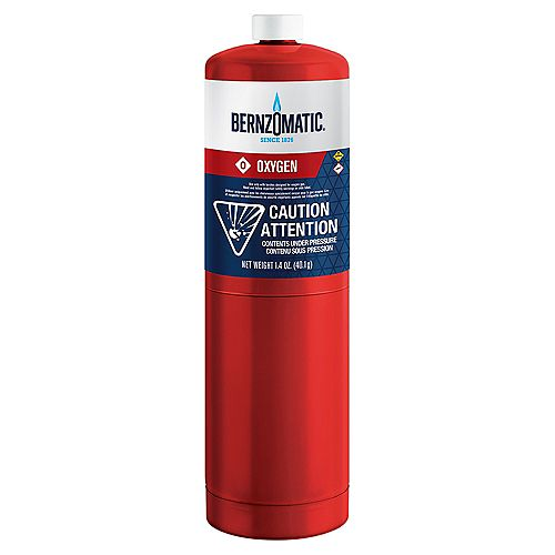 Bernzomatic 1.4 Oz Oxygen Cylinder