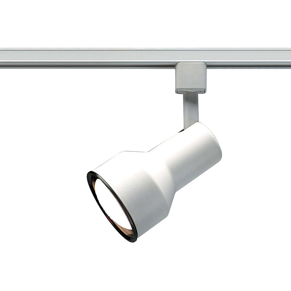 Glomar 1 Light R30 Track Head Step Cylinder Finished In White The Home Depot Canada