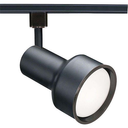 1 Light R30 Track Head Step Cylinder Finished in Black