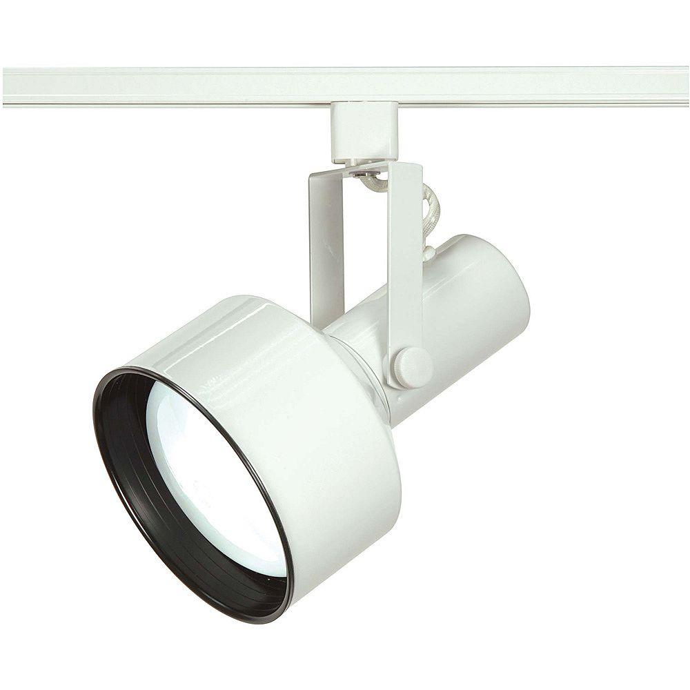 Glomar Appareil d'éclairage Glomar à une ampoule avec , Fini blanc