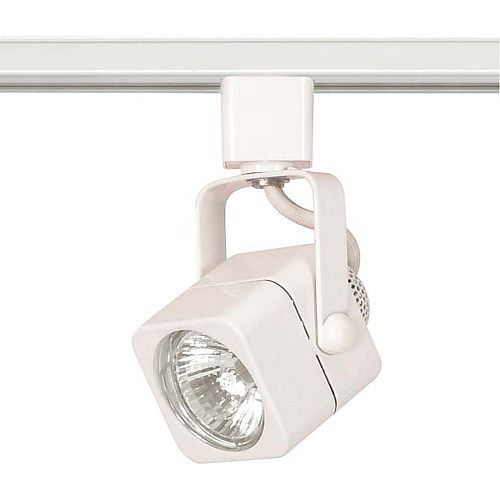1 Light MR16  120 volt Track Head Square Finished in White
