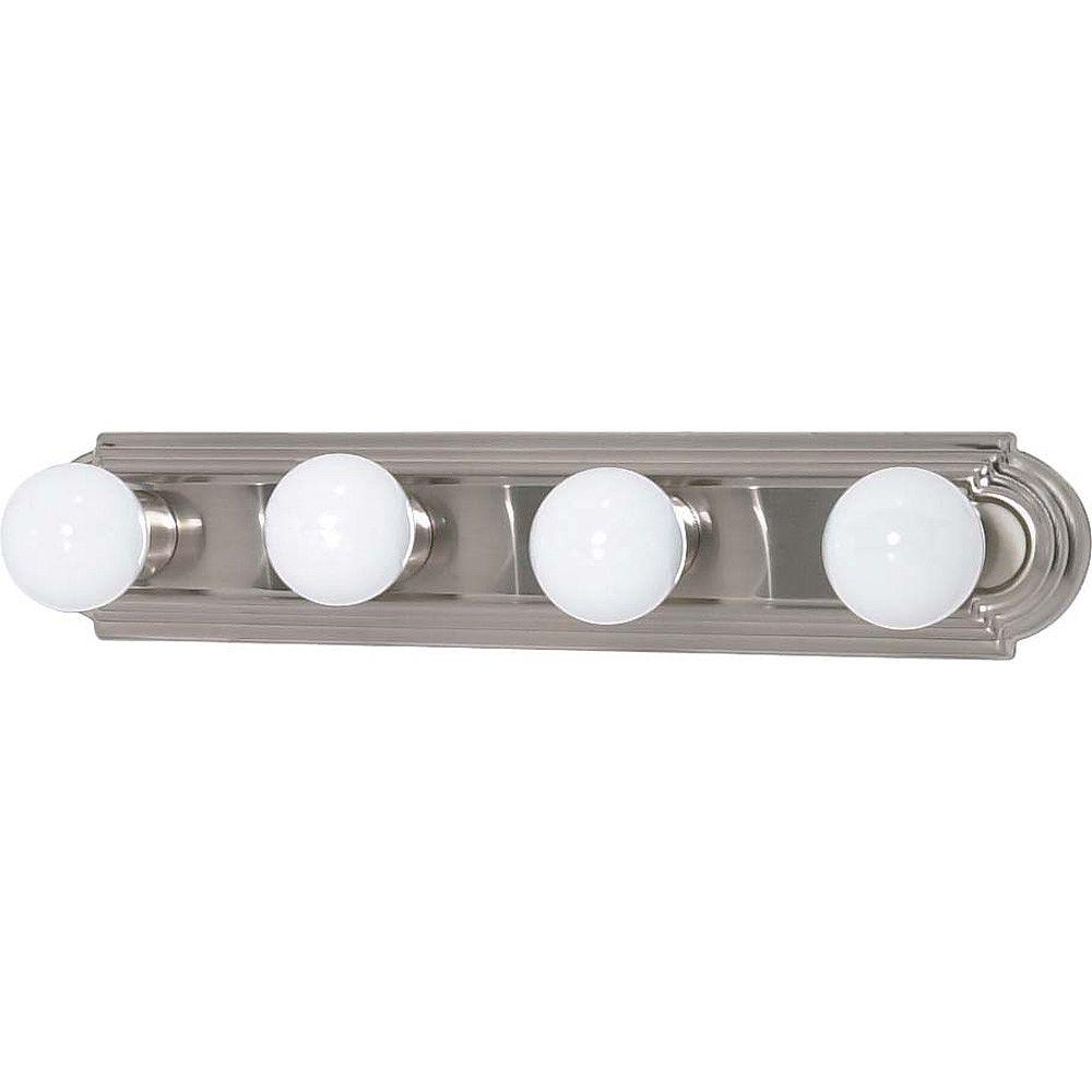 Glomar Lumière fixée au mur à quatre ampoules avec , finition de spécialité