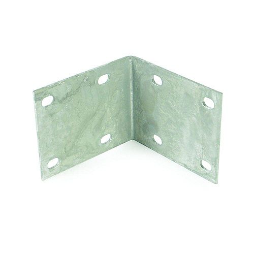 Commercial Grade Dock Inside Corner Bracket in Marine Grade Galvanized Finish