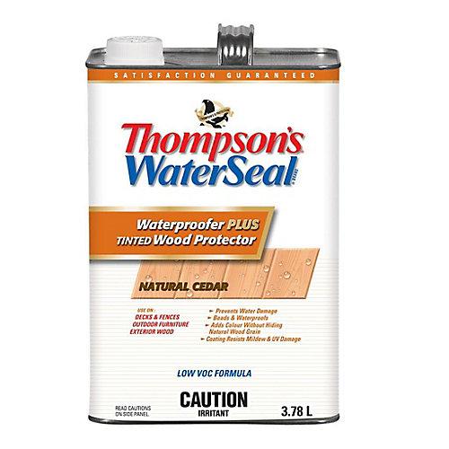 Imperméabilisant PLUS protecteur pour bois teinté Thompsons WaterSeal Faible en COV - Cèdre naturel