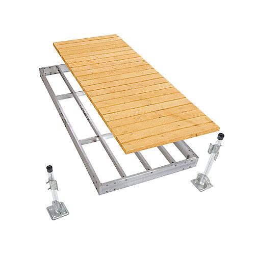 4 ft. x 10 ft. Aluminum Stationary Dock Kit