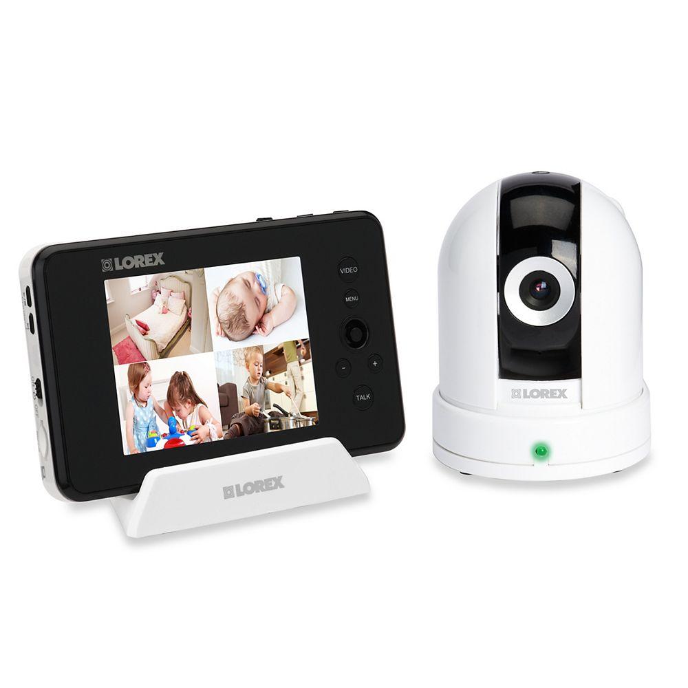 LOREX Moniteur vidéo Live avec écran ACL de 3,5 po et caméra sans fil à panoramique/inclinaison
