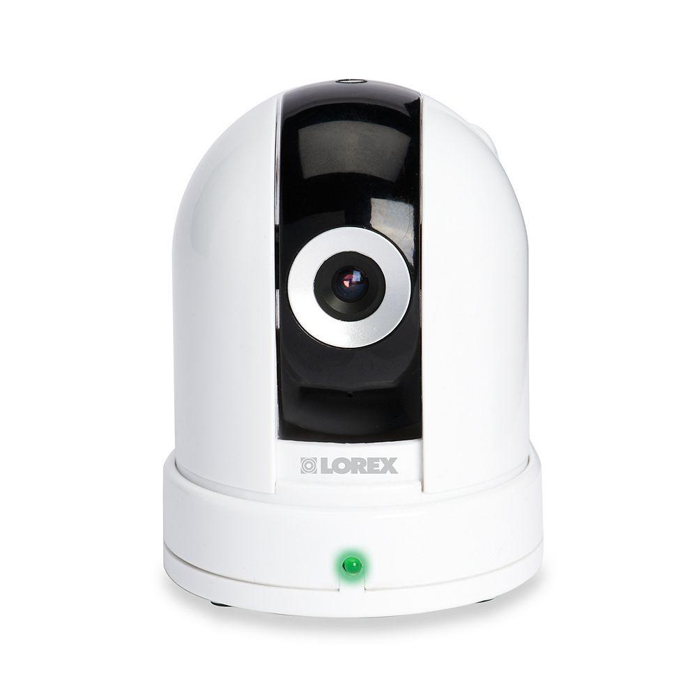 LOREX Caméra auxiliaire d'intérieur Live à panoramique/inclinaison avec audio à 2 voies et capteur de température
