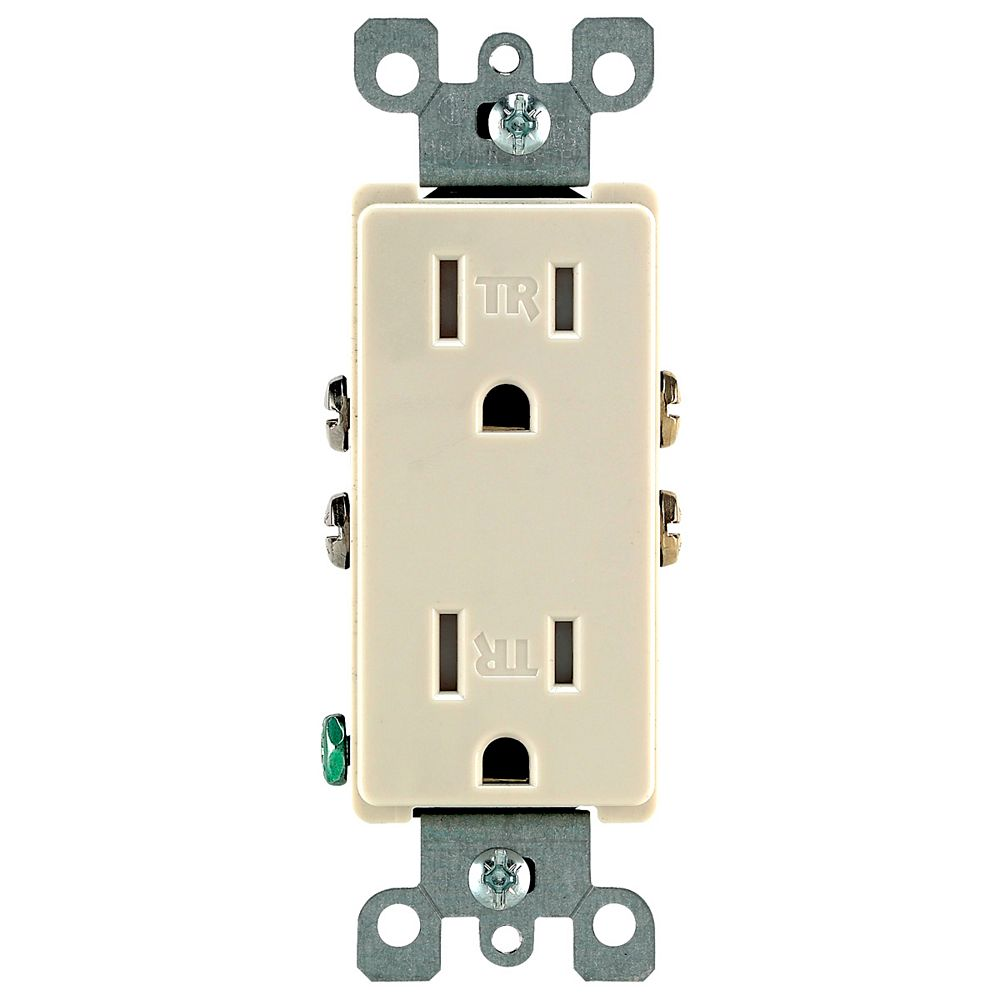 Leviton Decora Tamper Resistant Receptacle 15A, in Ivory