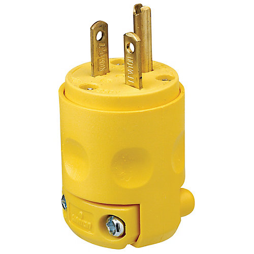 PVC Plug 20A-250V, in Yellow