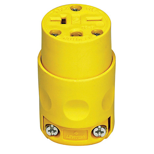PVC Connector 20A-250V, in Yellow