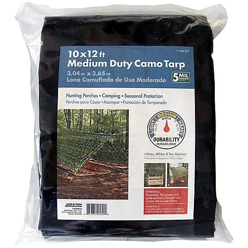 10x12ft Medium Duty Camo Tarp