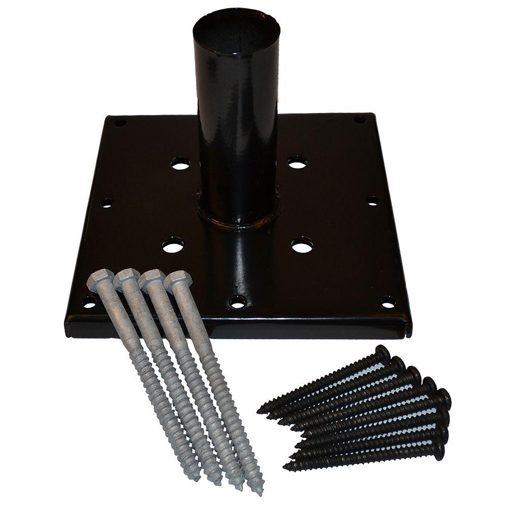 Titan Black Post Anchor Kit Galvanized (6 Inch x 6 Inch)