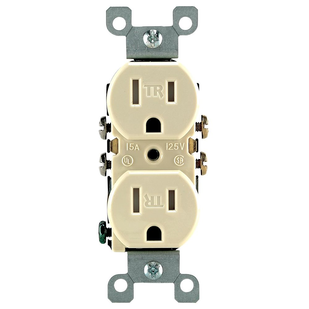 Leviton Tamper Resistant Duplex Receptacle 15A, in Ivory