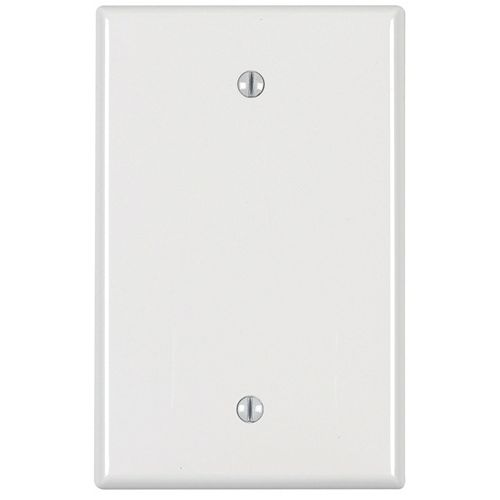1-Gang Midway Nylon Blank wall plate, in White