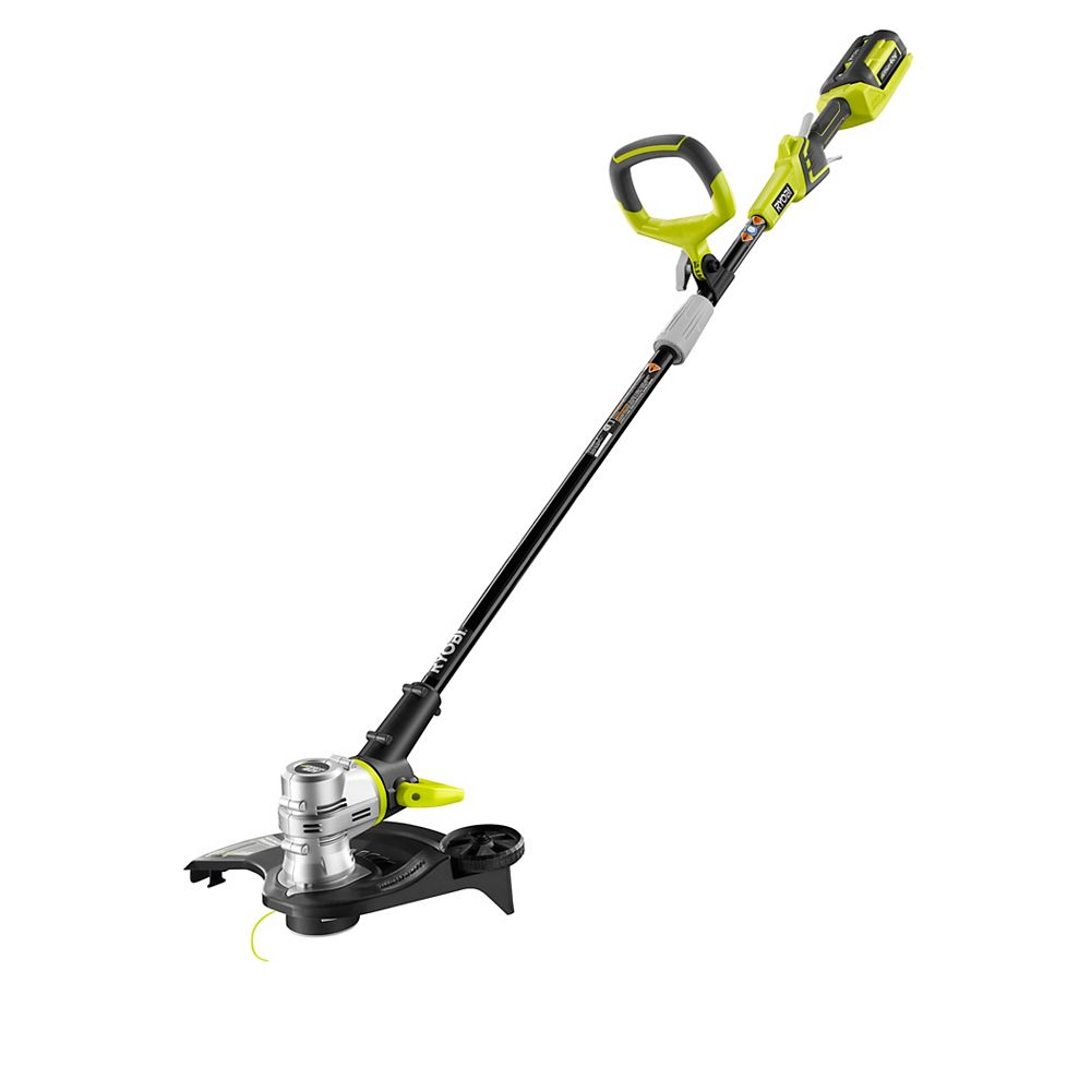 RYOBI 40V Lithium-Ion Cordless String Trimmer/Edger with 2.6 Ah Battery and Charger