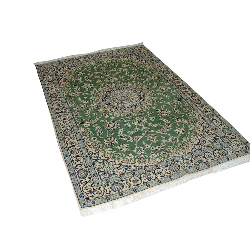 Cam Living Carpette d'intérieur, 3 pi 8 po x 5 pi 9 po, style traditionnel, rectangulaire, vert Nain
