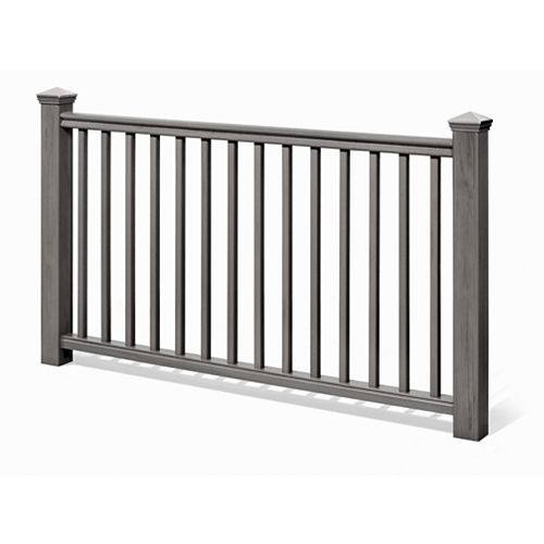6 Ft. - 42 In. Traditional Handrail Kit Grey - Railing