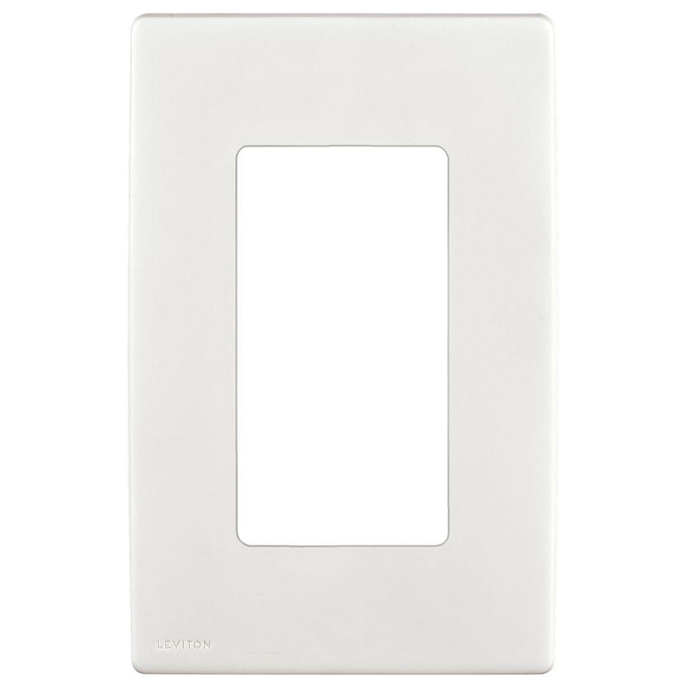 Leviton 1-Gang Screwless Wallplate in White