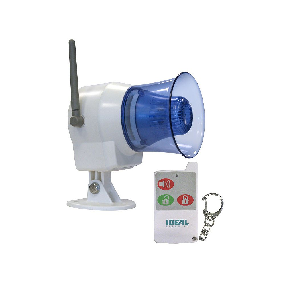 Ideal Security Wireless Indoor Outdoor Siren With Remote Control The Home Depot Canada