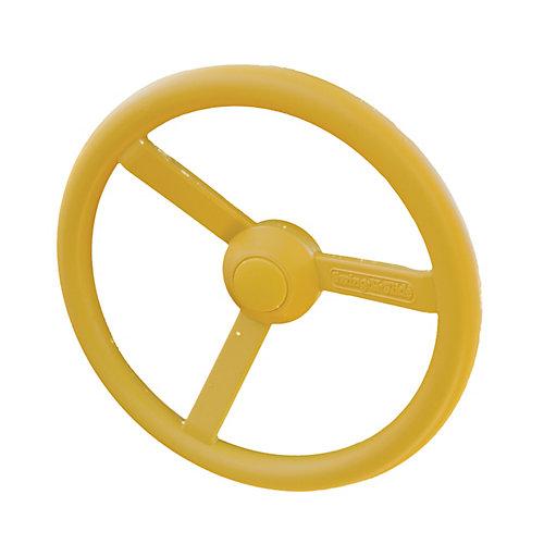 Volant de direction en plastique jaune