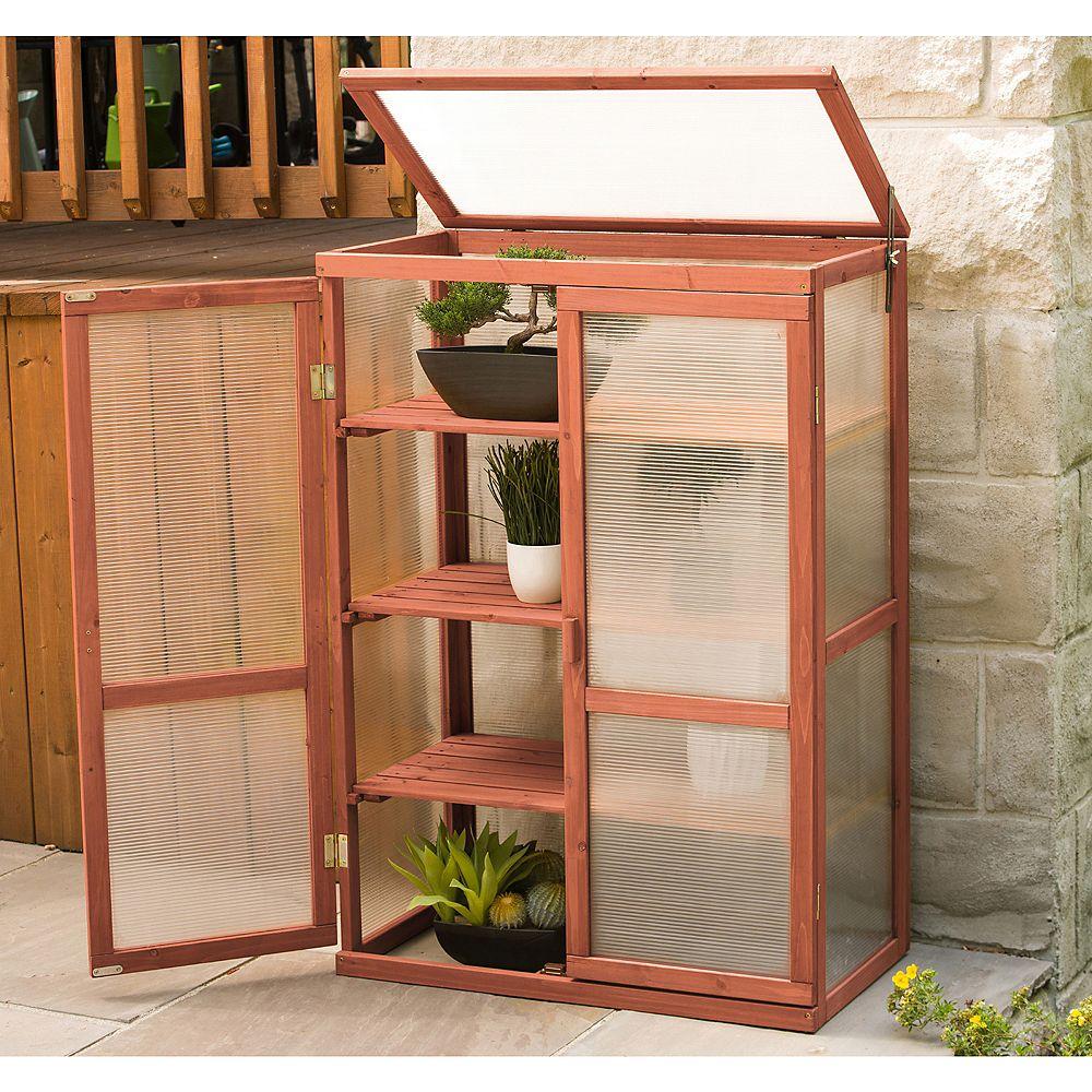 Leisure Season 1 ft. 4-inch x 2 ft. 6-inch Cypress Mini Greenhouse