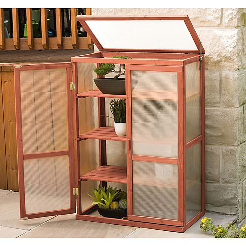 1 ft. 4-inch x 2 ft. 6-inch Cypress Mini Greenhouse