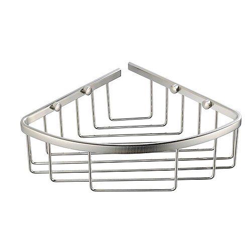 Fresca Single Corner Wire Basket - Brushed Nickel