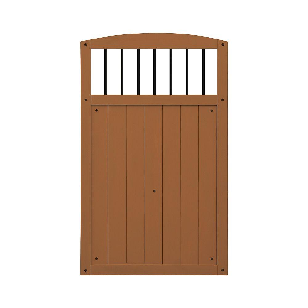 Yardistry Porte à Baluster Noir- Ambre