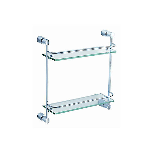 Magnifico 2 Tier Glass Shelf - Chrome