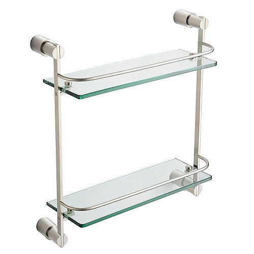 Magnifico 2 Tier Glass Shelf - Brushed Nickel
