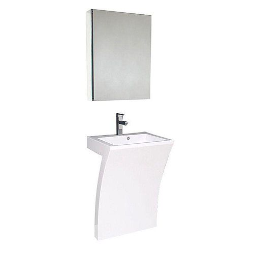 Quadro 22.5-inch W Vanity in White With Faucet