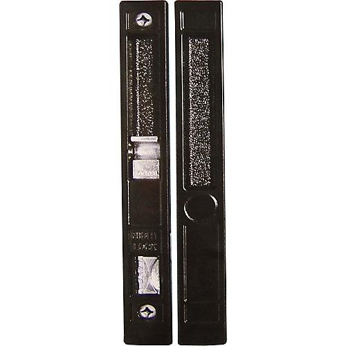 Black Flush Mount Patio Door Handle Set