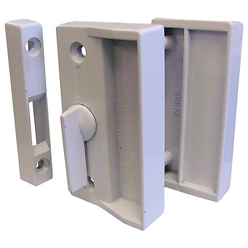 White Screen Door Latch Set