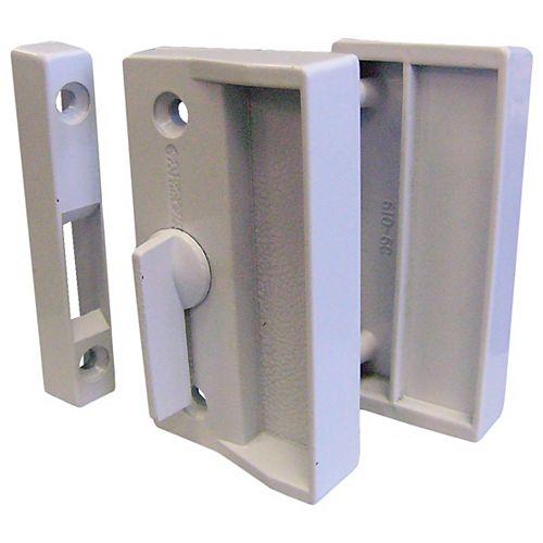 White Screen Door Latch Set