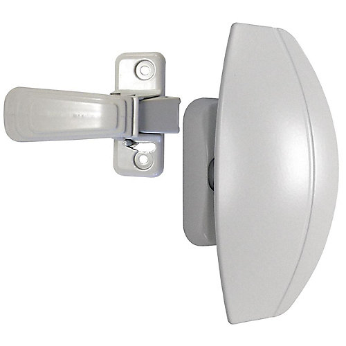 White HP Storm Door Handle Set