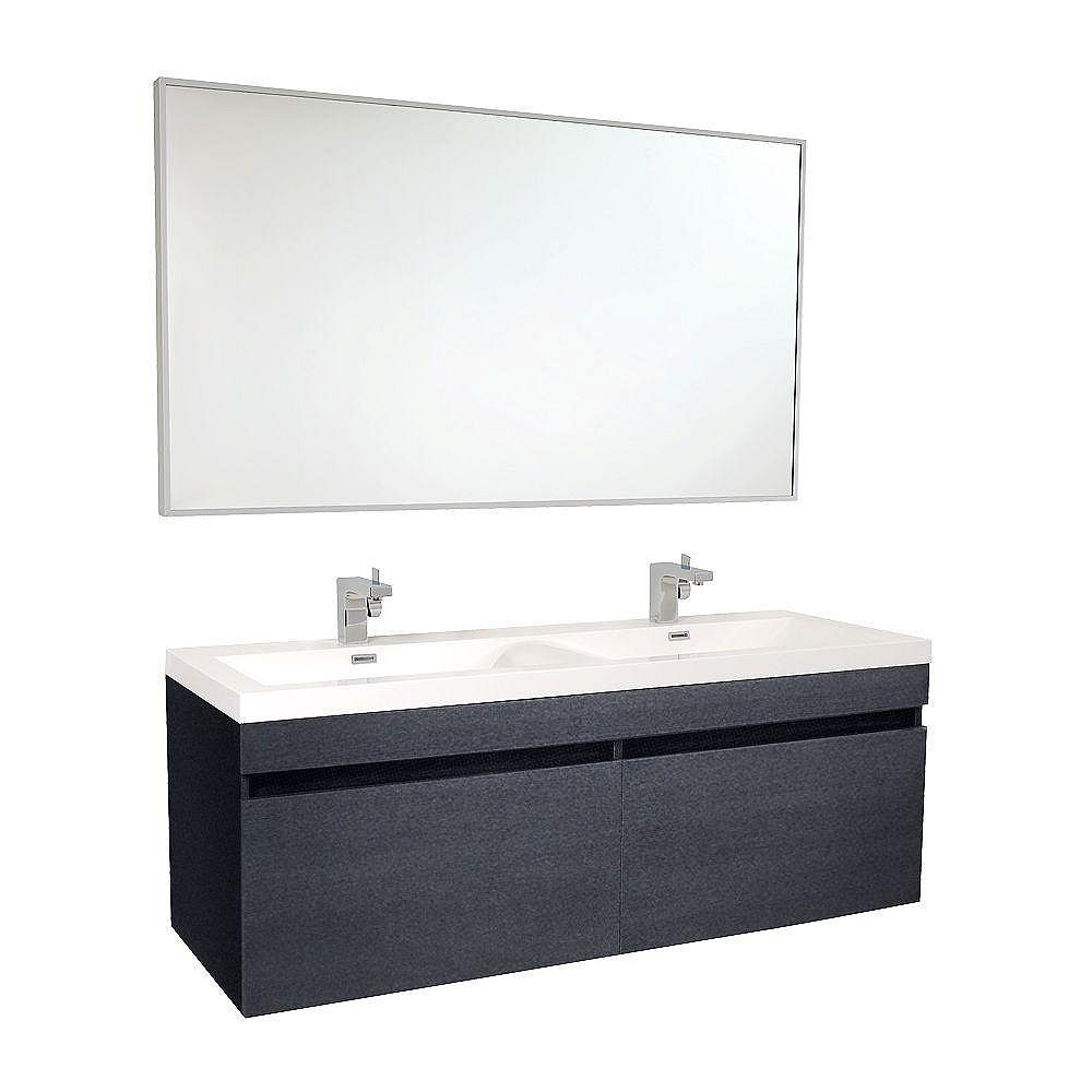 Fresca Largo 56.63-inch W 4-Drawer Wall Mounted Vanity in ...