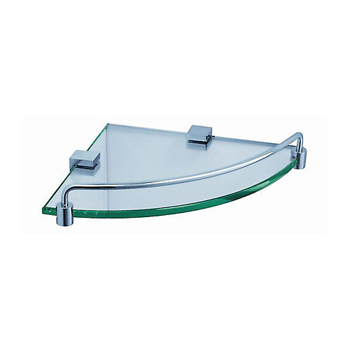 Ottimo Glass Corner Shelf in Chrome