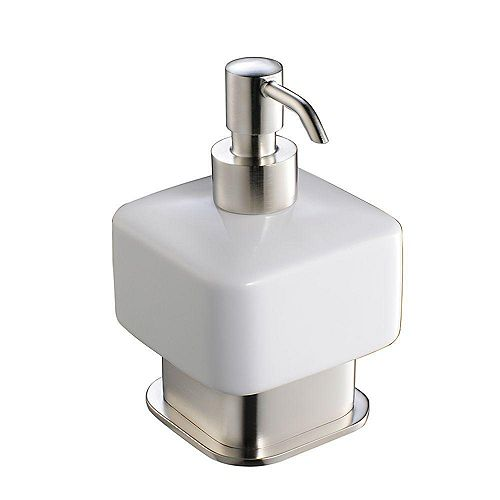 Solido Lotion Dispenser (Free Standing) - Brushed Nickel