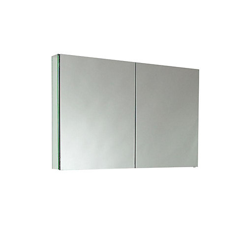 Armoire À Pharmacie 39.5 po De Large Avec Miroirs