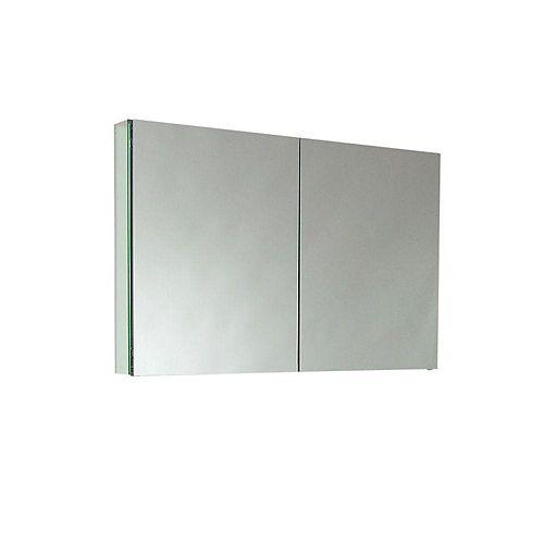 40-inch W 2-Shelf Medicine Cabinet with Mirrors
