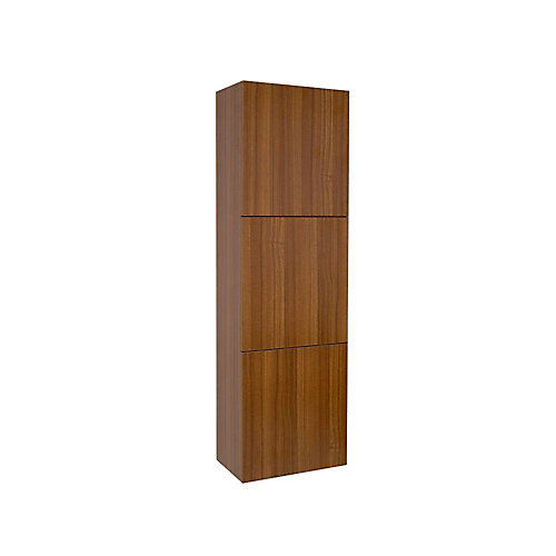 Teak Bathroom Linen Side Cabinet With 3 Large Storage Areas